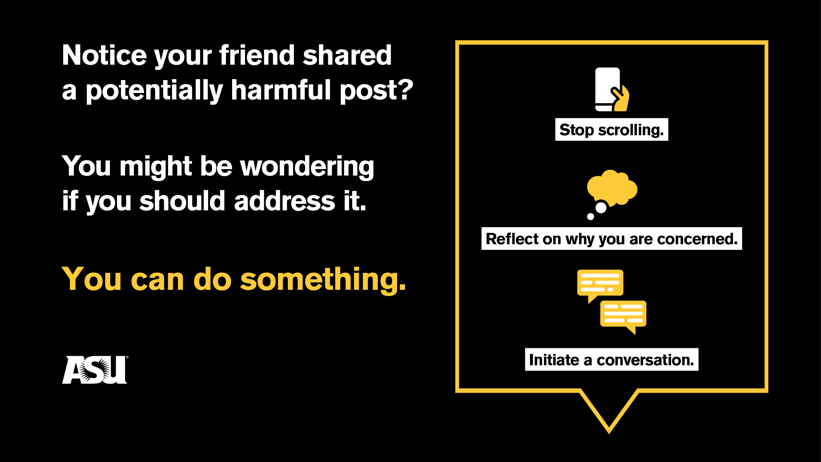 Notice a friend shared a potentially harmful post?